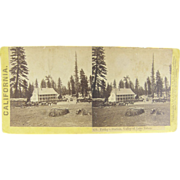 SOLD =RARE= 1866 Stereoview, Pony Express, California, Friday's Station, Valley of Lake Tahoe