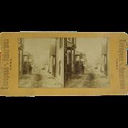 1890 St. Augustine, Florida street scene - antique stereoview