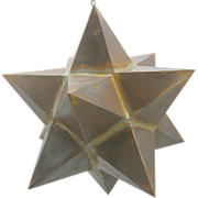 SOLD =Folk Art= Moravian star, tin, multifaceted, early 20th century