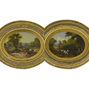=RARE= CSA Mosby ranger, artist J.J. Porter Culpeper Virginia oval Oil Paintings =PAIR=