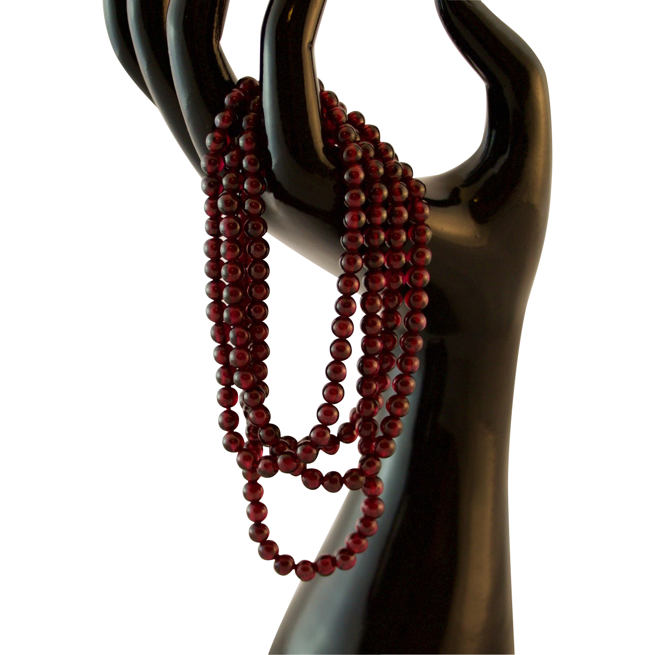 34 quot garnet bead necklace from rubylane sold on ruby