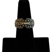 Sterling Silver Marcasite Band Size 6-1/4
