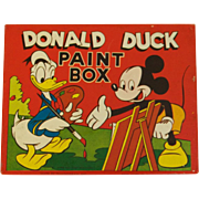"Never Used - Walt Disney Productions Donald Duck ""Gold Medal"" Paint Set"