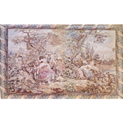 Vintage French Woven Tapestry