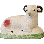18thC Early Staffordshire Figure of a Ram