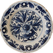 Early 18thC Delft Pottery Plate