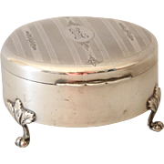 Sterling Silver Ring Jewelry Box Case by Birks