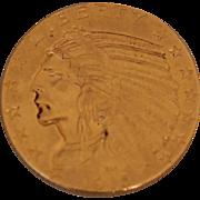 SOLD Gold 1915 Indian Head Five Dollar Half Eagle