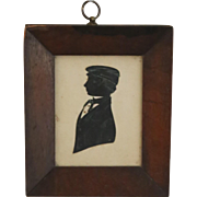 Victorian Silhouette Portrait of Young Boy