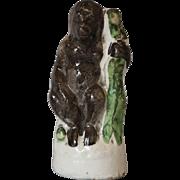 Antique Staffordshire Gorilla Ape