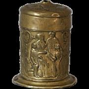 Antique English Brass Vesta Box