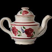 Antique Miniature Child's Pearlware Teapot
