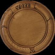 Antique York Carved Victorian Breadboard Bread Board