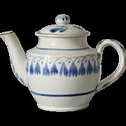Antique Miniature Pearlware Child's Teapot