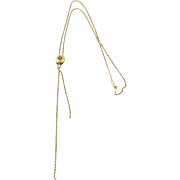 SALE Victorian 14K Yellow Gold Slide Lariat with Pearl Necklace