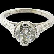 SALE Antique Edwardian Platinum Diamond Engagement Ring, Size 5.5