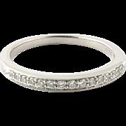 Vintage 18K White Gold Diamond Band Size 7