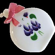Devon Violets by Aidees Handpainted Milk Glass Perfume Bottle--Shabby