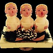 Brite Star Christmas Choir Angels Music Box Silent Night In Box