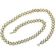 """Napier 24"""" Simulated Pearl And Gold Tone Chain Link Necklace"""