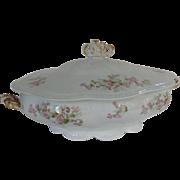 Large Antique Limoges, France, Lanternier Tureen / Covered Casserole / Serving Dish