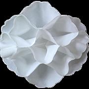 SALE PENDING White Fabric Bread Cozy / Bun Warmer