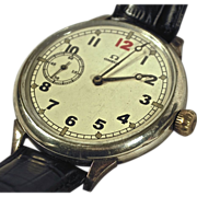 SOLD Very Rare Antique Sterling 1913 Omega Triple Case Wristwatch