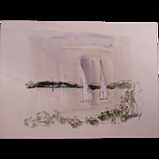 REDUCED Vintage Alfred Birdsey Watercolor Painting #2, Bermuda