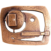 Rare & Important Jacques Lipchitz Bronze Belt Buckle 1 of 5 with Provenance.