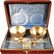 SOLD Early Fine Tiffany & Co. Boxed Sterling Silver Salts with Spoons.
