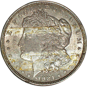 1921 Morgan Silver Dollar - 94 year old Coin - Philadelphia Mint