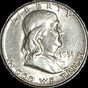1951 Franklin Silver Half Dollar - Nice 64 year old Silver Coin - Philadelphia Mint - Free ...