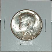 1964 Kennedy Silver Half Dollar - 90% Silver - Very Nice Coin - Philadelphia Mint ~ Free ...