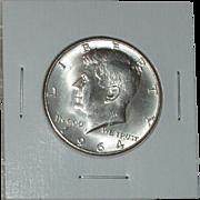 1964-D Kennedy Silver Half Dollar - 90% Silver - Very Nice Coin - Denver Mint ~ Free ...