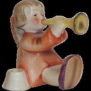 """SALE Vintage M.I. Hummel """"Joyous News Angel with Trumpet"""" Candle Holder Figurine ~ H"""