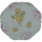 Lehmann-sohn (son) Leuchtenburg, Germany Porcelain Plate circa. 1885-1910