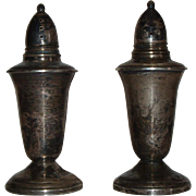 REDUCED Crown Sterling Silver Weighted Salt and Pepper Shakers