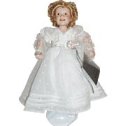 """The Shirley Temple Movie Classics """"Curly Top"""" Porcelain Doll ~ Danbury Mint ~ 10"""""""