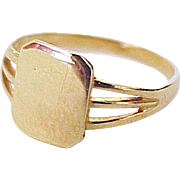 Vintage Baby Signet Ring 10K Gold size 0