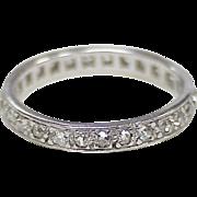 Edwardian Eternity Ring Platinum & Rose Cut Diamonds .56 ctw
