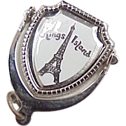 Vintage Sterling Silver Moving Charm ~ Kings Island, Theme Park