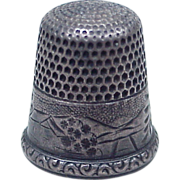 REDUCED Vintage Sterling Silver Sewing Thimble by Simons Brothers size 10