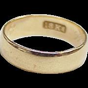 Victorian Ear Wedding Ring Band 18k Gold circa 1888