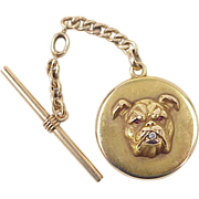 Victorian Watch Fob, Locket / Charm ~ Bulldog