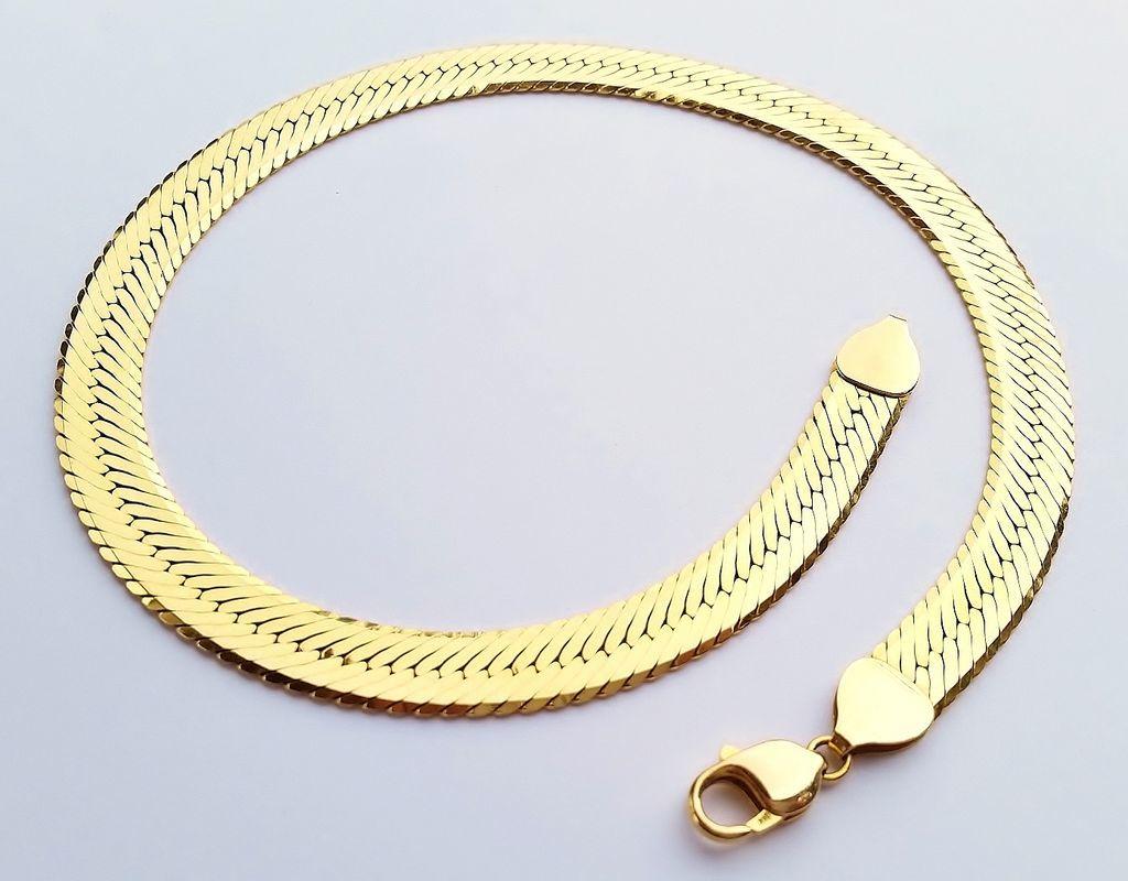 Sale stunning 14k gold 50 8g 16 quot herringbone choker necklace italy