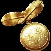 Vintage 1/20 Kt Gold Filled Locket Pin