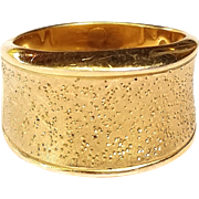 SALE Reduced! Sterling Silver & 18K Gold Plated CHARLES GARNIER Cigar Band 7.0g Ring Size 7