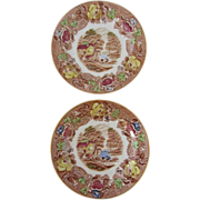 "SALE ""English Scenery"" Set of 2 Enoch Woods Bread and Butter plates- Woods and Sons"
