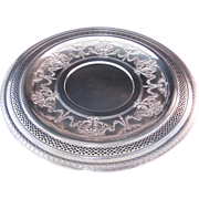 SALE International Silver Co. Silver Plate Round Vintage Tray