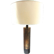 "SALE 33"" Tall Mid-Century Modern Cylinder Lamp"
